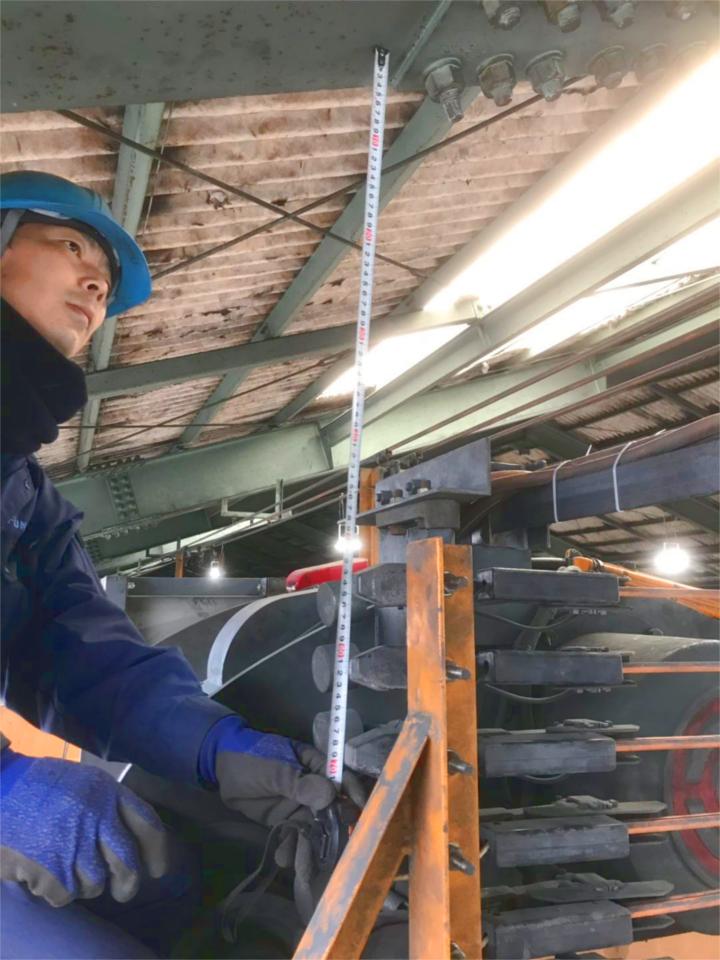 工場天井クレーンの改造工事